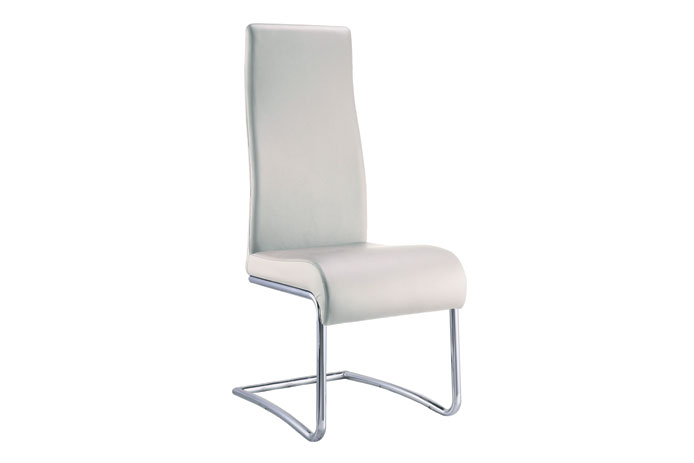 Silla comedor blanca oferta outlet de muebles for Sillas salon baratas