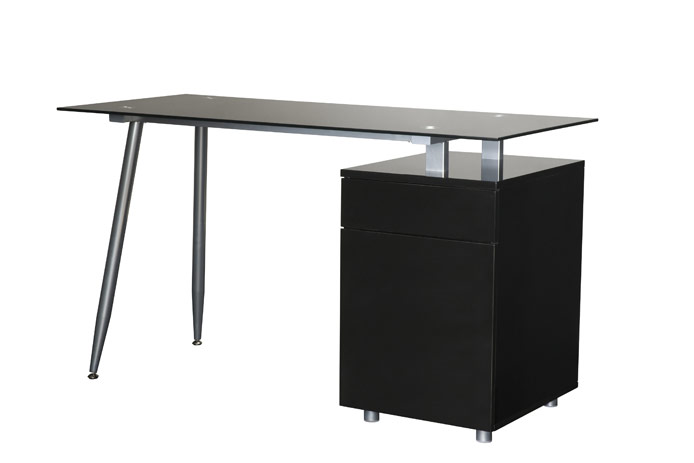 Mesa de estudio barata negra outlet de muebles for Mesa gaming barata