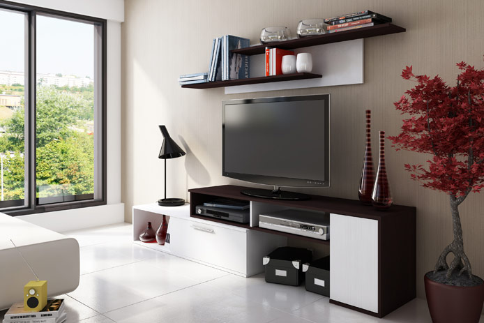 Librer a estanter a blanca moderna outlet de muebles for Muebles librerias modernas