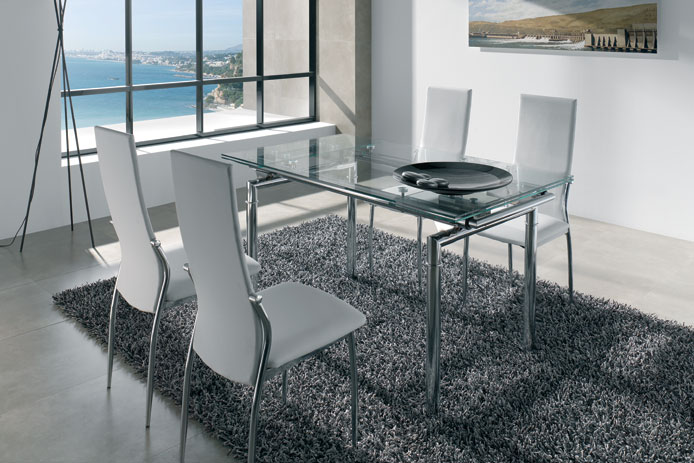 mesa de comedor extensible oferta nueva loyra outlet de. Black Bedroom Furniture Sets. Home Design Ideas