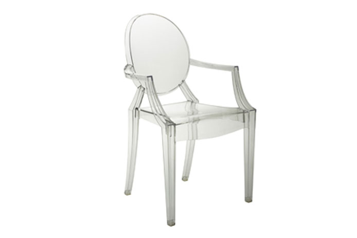 Silla de comedor transparente outlet de muebles for Silla transparente