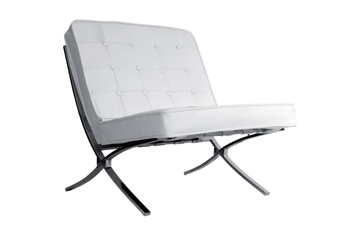 Sill n tendencia eco piel blanca outlet de muebles for Sillones economicos
