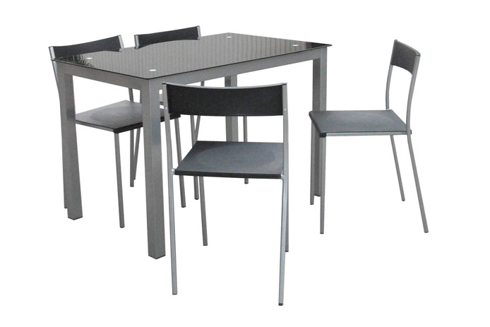Silla de comedor negra barata outlet de muebles for Sillas de salon baratas